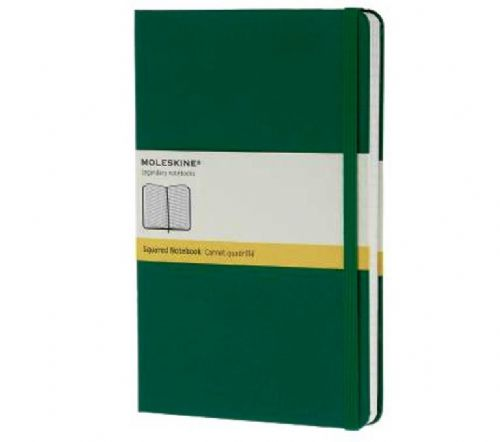 Green Large Squared Notebook